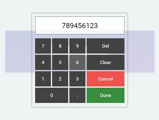Customizable Visual Numerical Keyboard Plugin - Easy Numpad