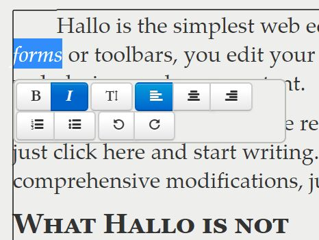User-friendly Web Content Editor With jQuery UI - Hallo