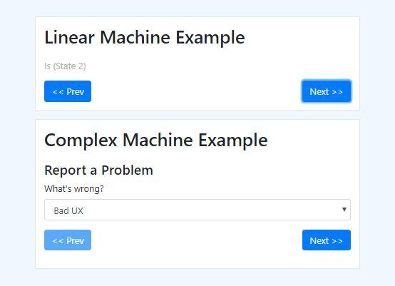 Wizard Style Step By Step Progress Plugin - jQuery Finite State Machine