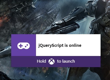 Xbox One Style Notifications with jQuery and CSS3 Animations