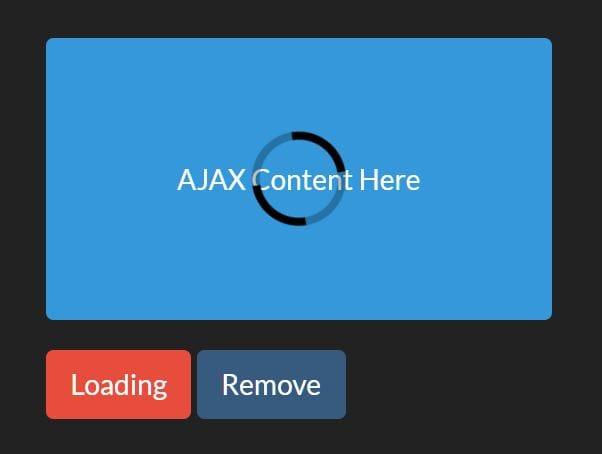 Add/Remove CSS Class While Loading Something - class-loading