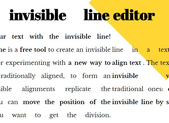 Fancy Text Alignment Plugin - Invisible Line