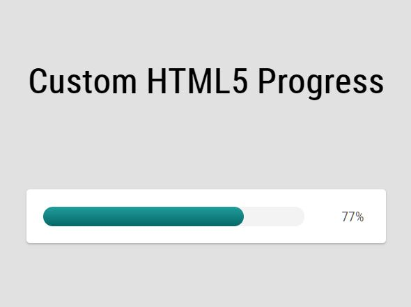Custom Animated HTML5 Progress Bar In jQuery