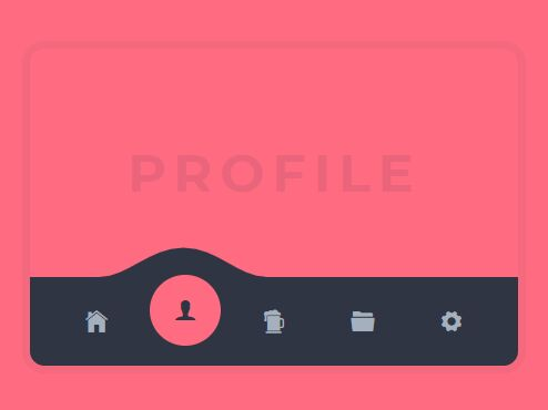 Animated Mobile Tab Bar Navigation With jQuery And CSS/CSS3