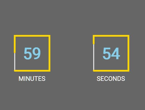 Animated Square Countdown Clock In jQuery