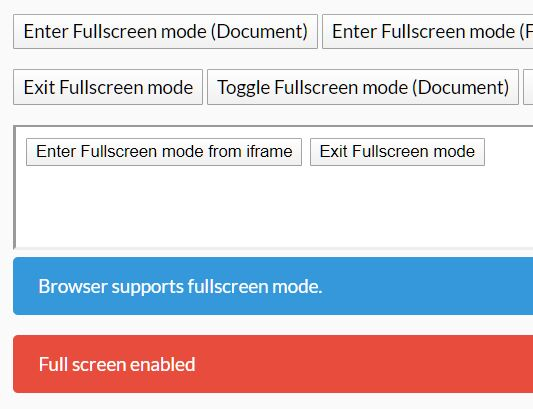 Open Any Element In Fullscreen Mode - jquery.fullscreen.js