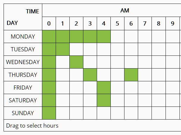 Schedule Appointments In A Week View - Scheduler
