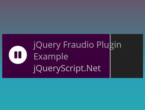 Simple Responsive HTML5 Audio Player - jQuery Fraudio