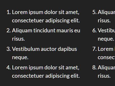 Display HTML Lists In A Multi-column Newspaper Layout - jQuery AutoColumnList