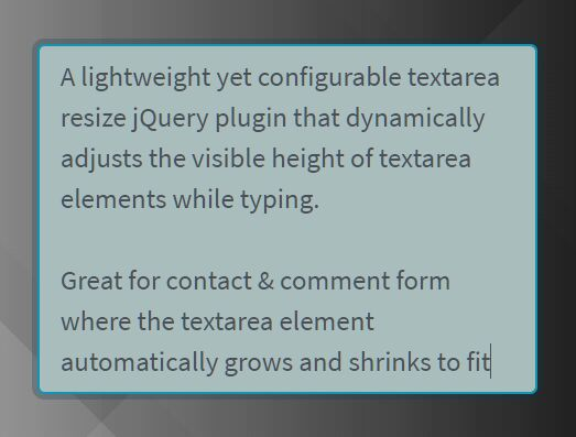 Auto Resize Textarea When Typing - au<font color='red'>to-r</font>esize.js