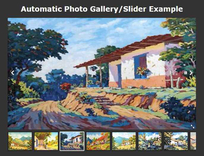 Beautiful Automatic Photo Gallery/Slider With jQuery