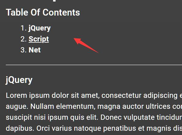 Automatic Table Of Contents Generator - jQuery autoContents.js