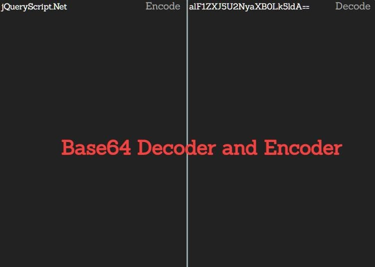 Base64 Decoder and Encoder In jQuery - base64.js