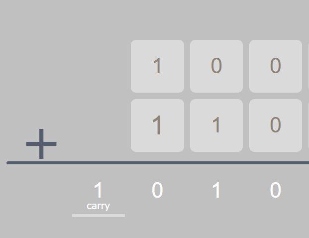 Animated Binary/Decimal Calculator In jQuery
