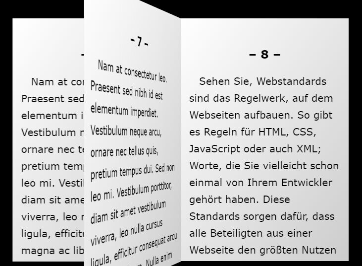 Touch-enabled Book/Page Flip Effect In jQuery