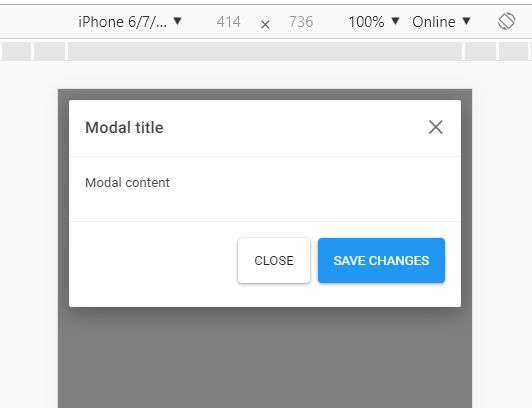 Bootstrap 4 Modal Optimized For Mobile - bootstrap-modal-ios.js