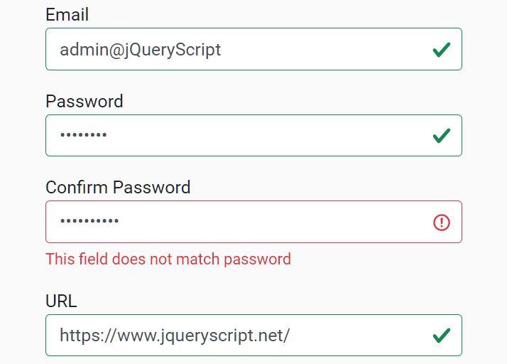 HTML5 Form Validator For Bootstrap 5 - jbvalidator