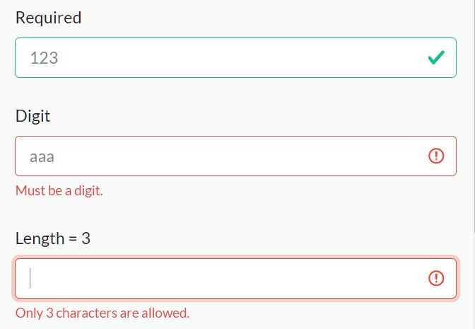 Bootstrap Compatible Form Validator In jQuery - validate.js