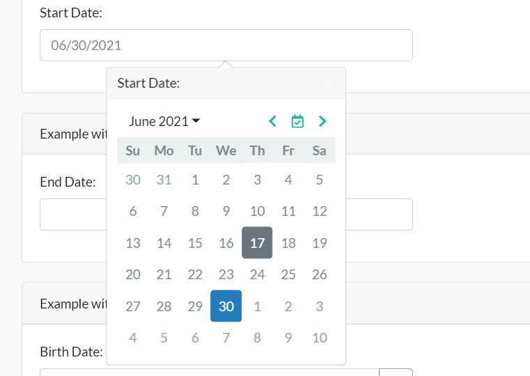 Modern Bootstrap Date Picker With jQuery And Day.js