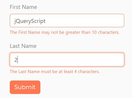 Bootstrap Styled Form Validator - jquery.form-validation.js