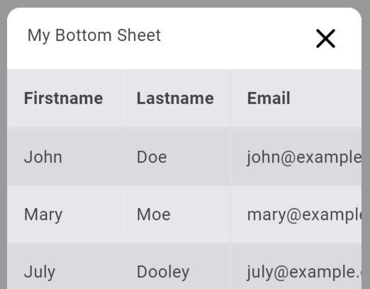 Bottom Sheet Like Sliding Drawer - jQuery downupPopup.js