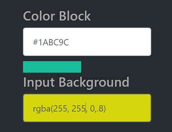 Dynamically Change Background Color Based On User Input - colorField.js