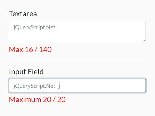 Add A Character Count To Text Field - Simple Text Counter
