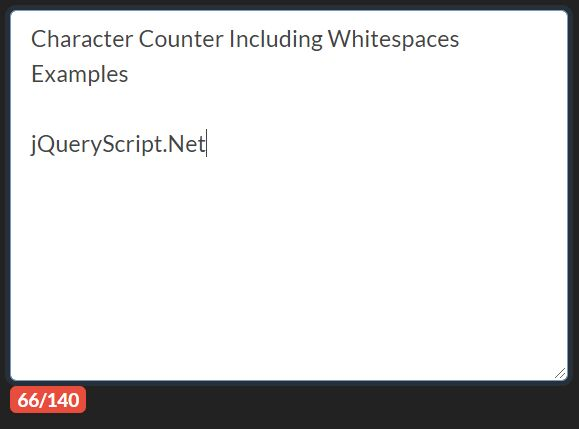 Character Counter Including Whitespaces - Characters Caculator
