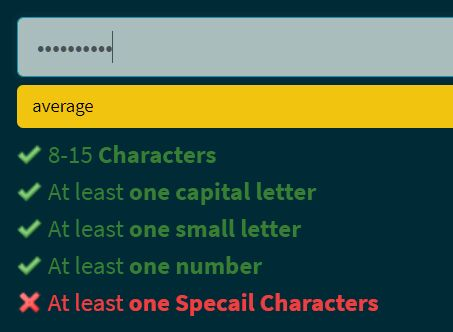 Check The Strength Of A Password - password-strength.js