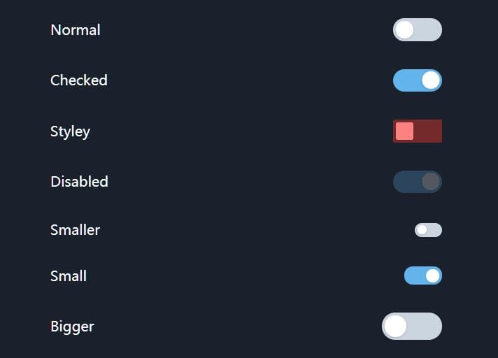 Checkbox Toggle Switch Plugin For Tailwind CSS Framework