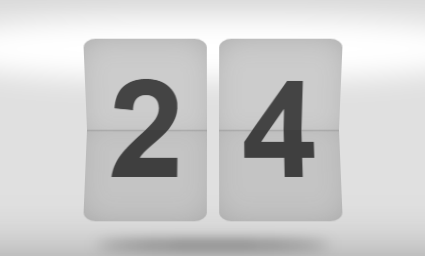 3D flip clock counter in pure CSS