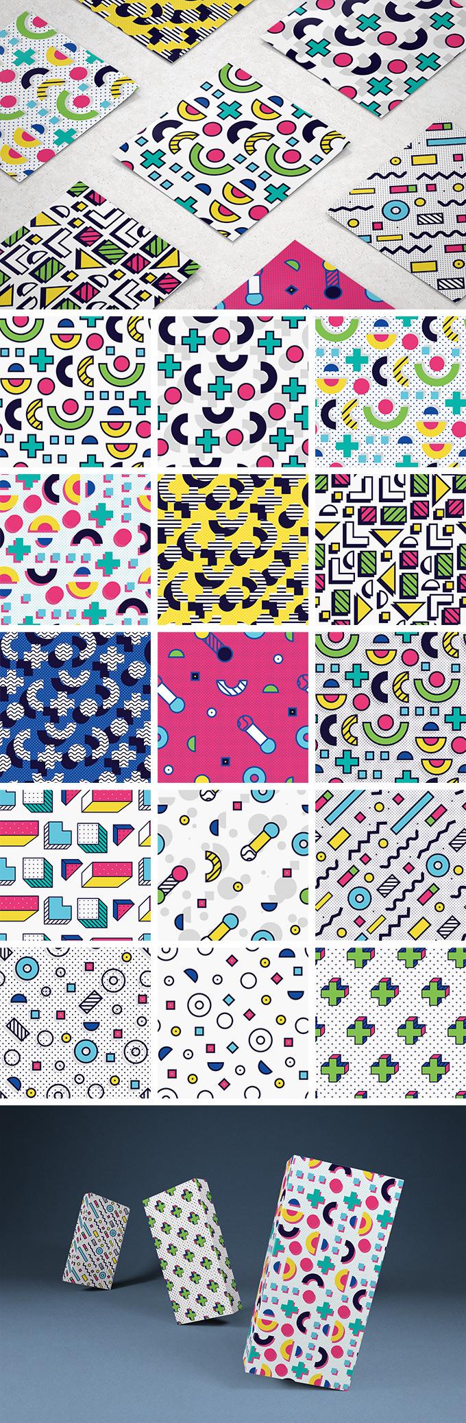 8-bit Memphis Patterns Pack