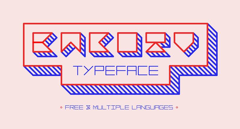 Bacotu Free Typeface