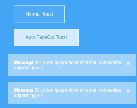 Basic Toast Notifications jQuery