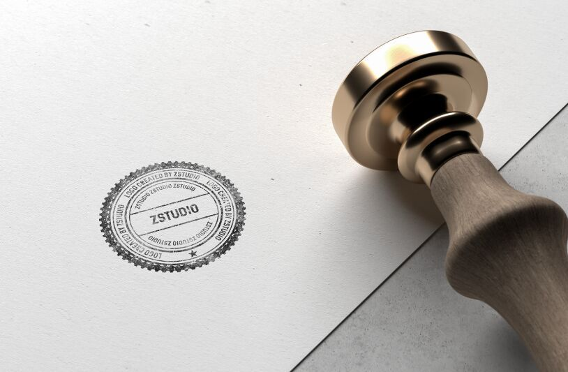 Best Free Stamp Mockups For Your Logo Design