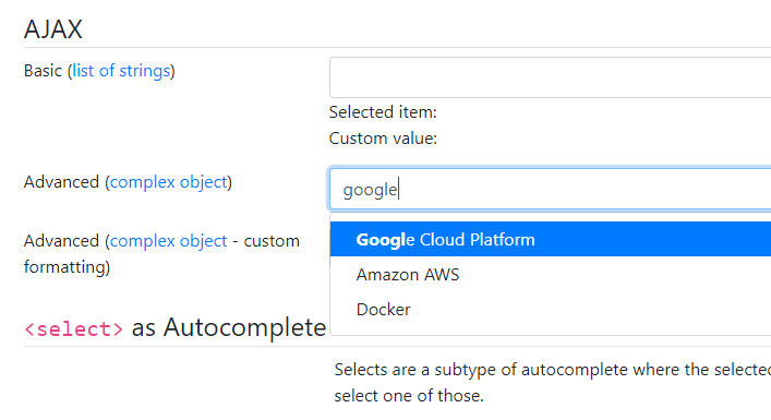 Bootstrap 4/3 Autocomplete