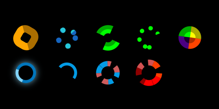 Colorful CSS Spinners