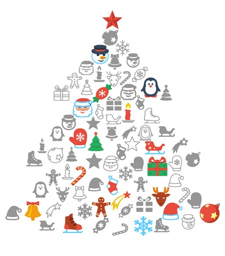 Flat Christmas Free Icon Packs for all Platforms