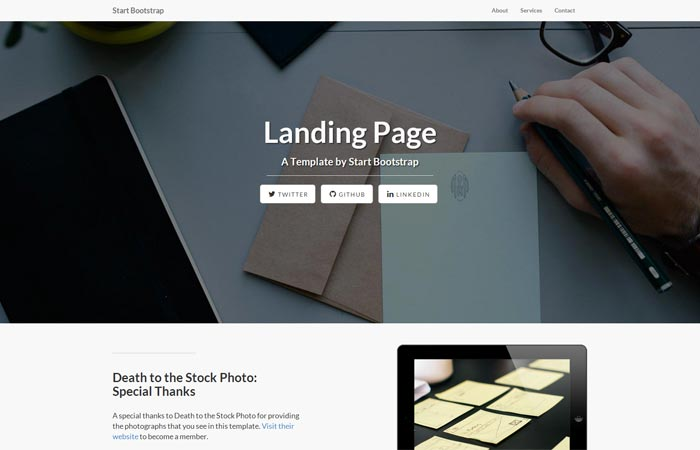 jquery landing page templates - weekly web design development news collective 15