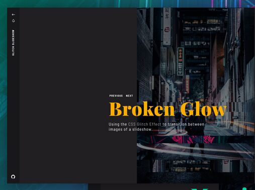 Glitch Effect Slideshow