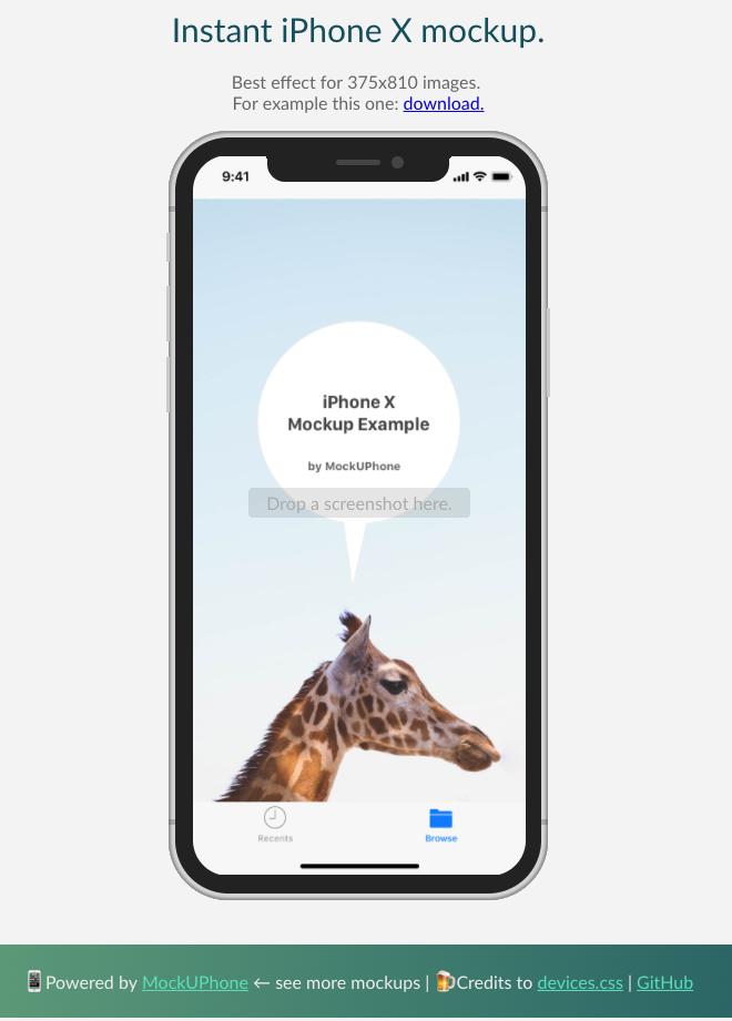 Instant iPhone X Mockup