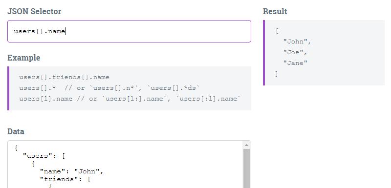 JSON Selector