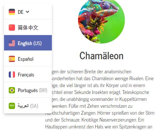 Language translations with JQuery