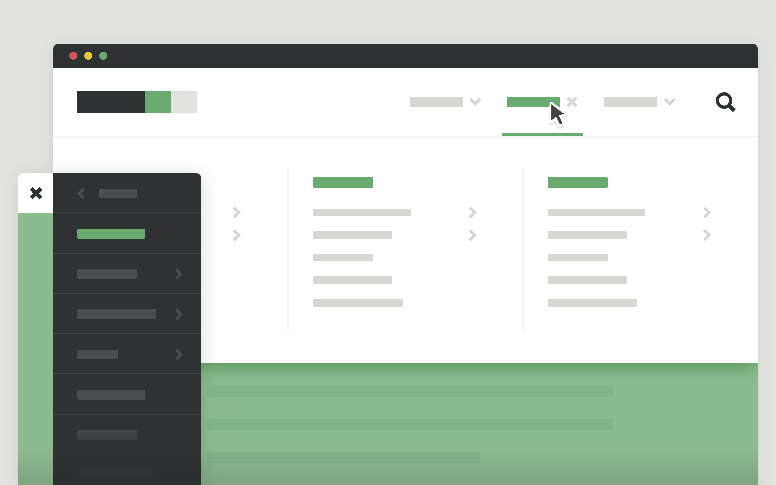 40 free responsive css3 jquery navigation menus with live examples.