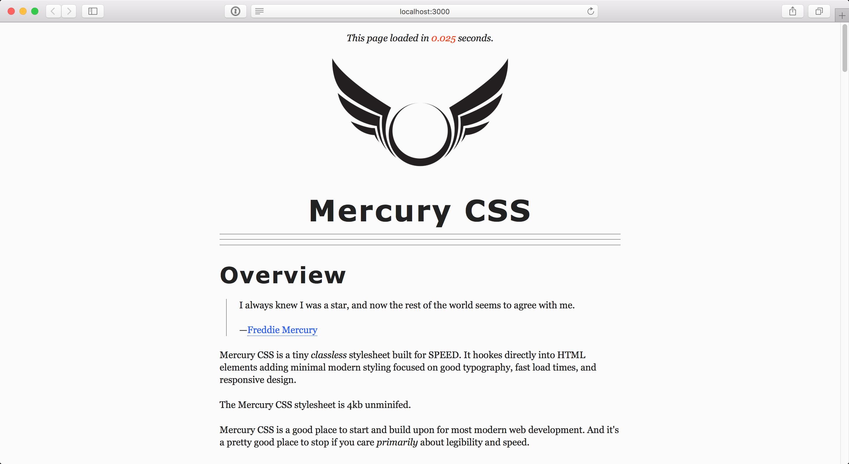 MercuryCSS