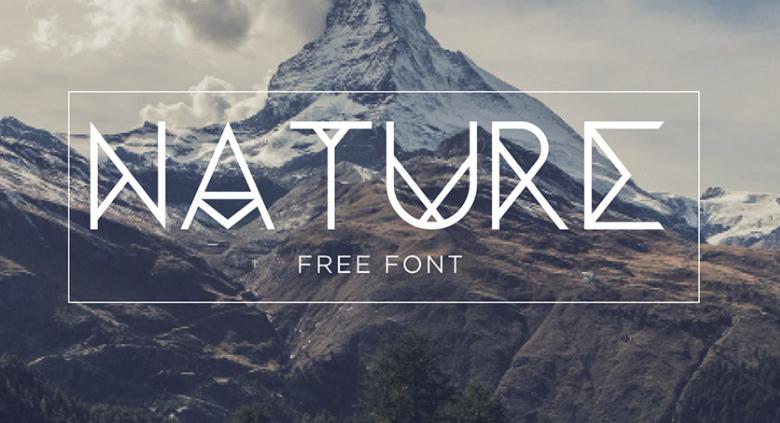 Nature Typeface