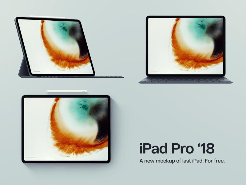 New Apple iPad 2018 PSD Mockups