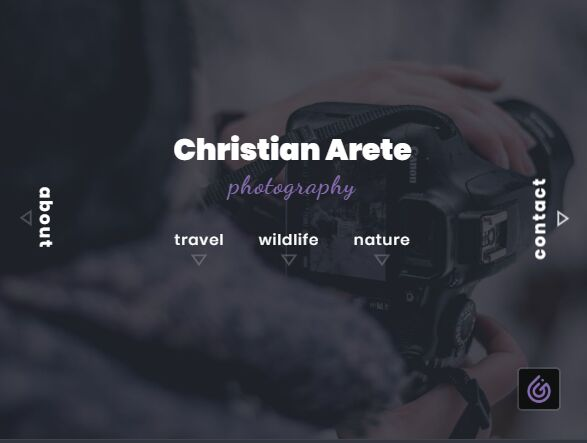 Photography page concept