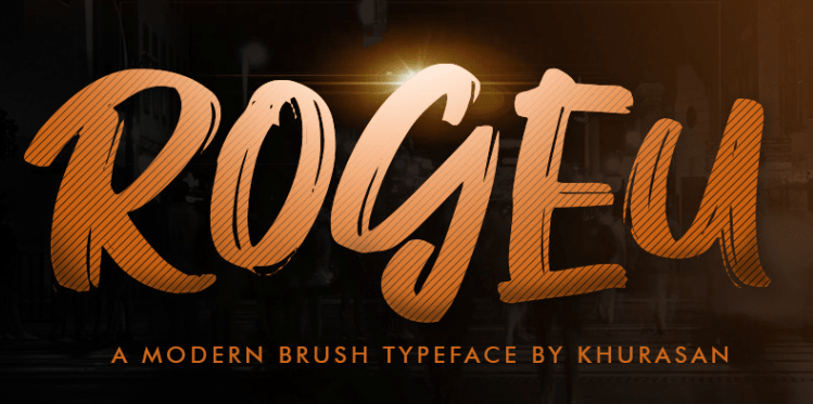 Rogeu Brush Font