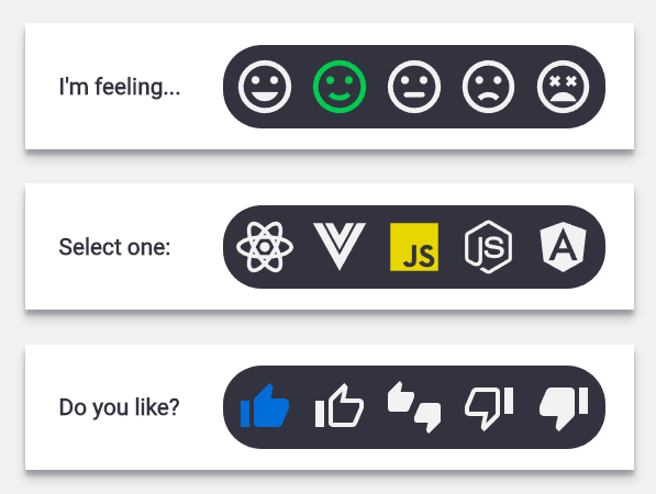 SVG Radio Selector Buttons